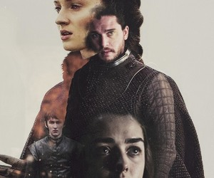 winter is here, arya stark, and game of thrones image