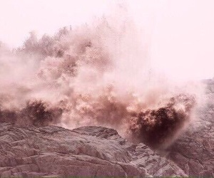 color, pink, and sand image