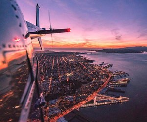 travel, adventure, and plane image