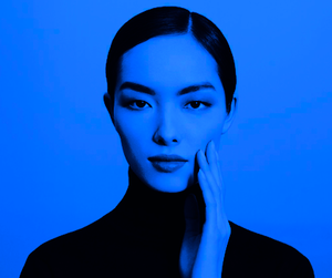 blue, girl, and beauty image