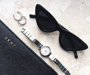 accesories, black, and cat eye image