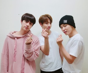 boys, heart, and jin image
