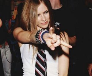 Avril Lavigne, girl, and rock image