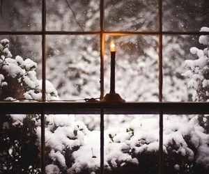 snow, winter, and candle image
