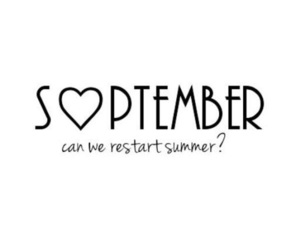 September and summer image