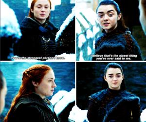 sisters, stark, and arya image
