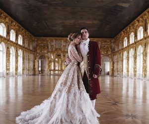 love, castle, and dress image