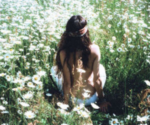 flowers, hippie, and summer image