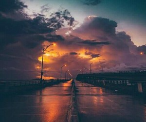 photography, road, and sky image