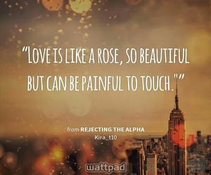 quotes, roses, and wattpad image
