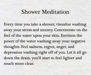 meditation and shower image