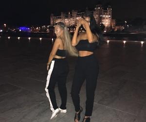 babe, dark, and blonde image