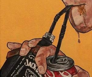 jack daniels, coca cola, and art image
