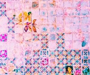 pink, theme, and tiles image