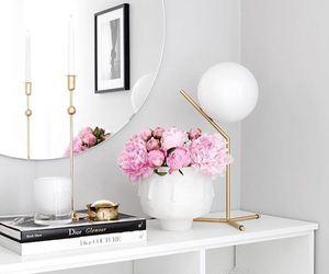 decor, shelf, and circle mirror image