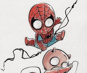 daredevil, Marvel, and spiderman image