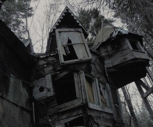 house, old, and dark image