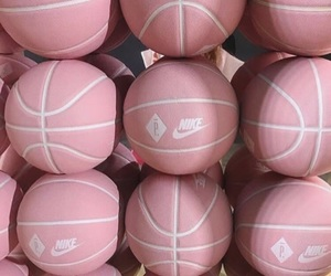 pink, Basketball, and nike image
