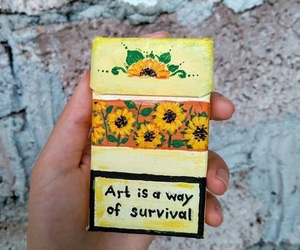art, cigarettes, and survival image