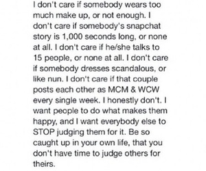 qoute, somebody, and dont care image