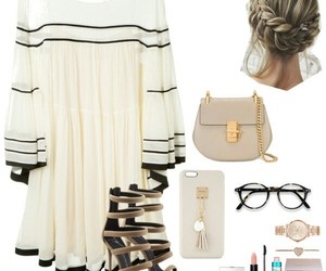beige, outfit, and Polyvore image