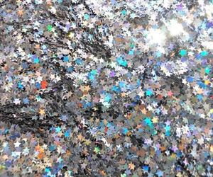 stars, glitter, and silver image