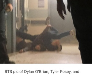 teen wolf, tyler posey, and bts image