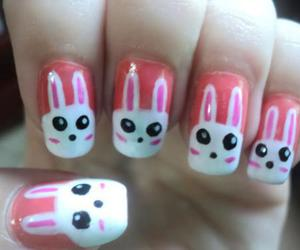 bunny, nails, and pink image