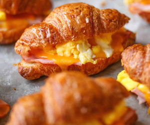 croissant, breakfast, and food image