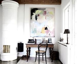 decor, library, and studio image