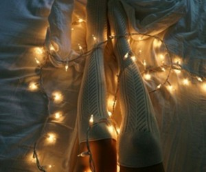 lights, aesthetic, and girl image