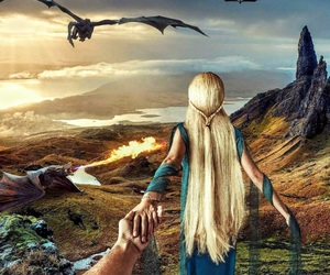mother of dragons, khaleesi, and and the first men image