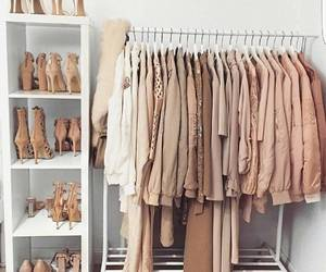 bedroom, organization, and clothes rack image