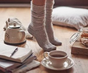 tea, socks, and coffee image