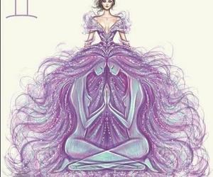 gemini, art, and zodiac image