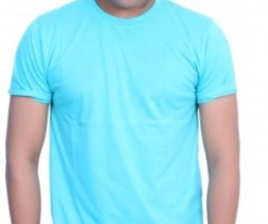 mens tees, round neck tee, and light blue tshirt for men image