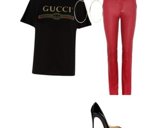 black, clothes, and gucci image