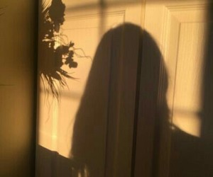 shadow, girl, and aesthetic image