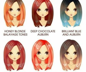 auburn, colorful, and colorful hair image