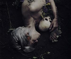 dark, skull, and death image