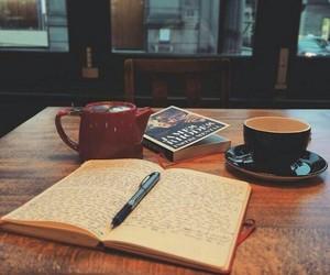 book, coffee, and writing image