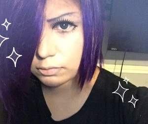 cosplay, purple hair, and fatgirl image