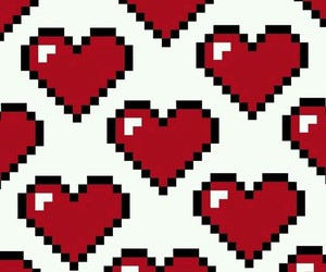 pixel, hearts, and wallpaper image