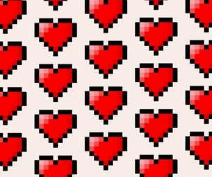 background, pixels, and love image