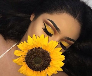 flower and makeup image