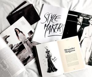 black, book, and fashion image
