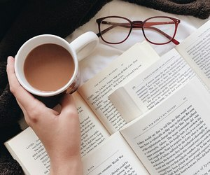 book, coffee, and cozy image
