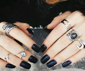 ring, fashion, and nail image