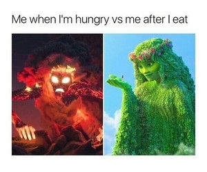 funny, moana, and hungry image