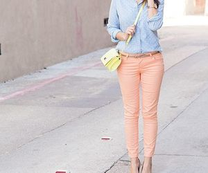 fashion, outfit, and pastels image